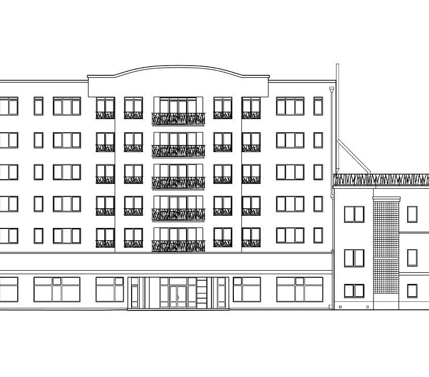 Fasady budynków przy ulicy Domaniewskiej w Warszawie